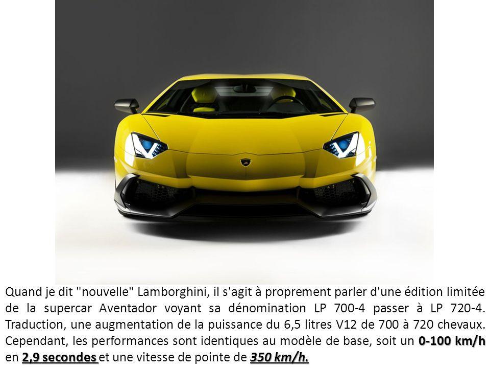 Ce modèle arrive quelques semaines avant la célébration des 50 ans de la marque Lamborghini.