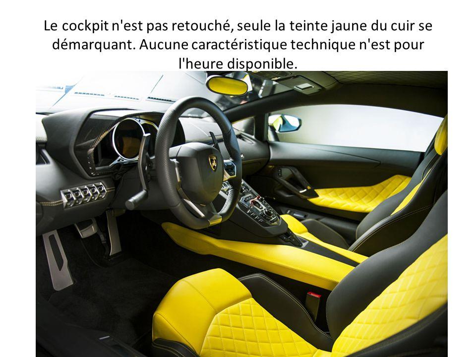 Le cockpit n est pas retouché, seule la teinte jaune du cuir se démarquant.