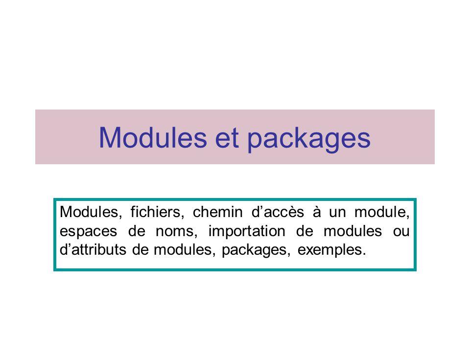12 Package Une structure hiérarchique de répertoires.