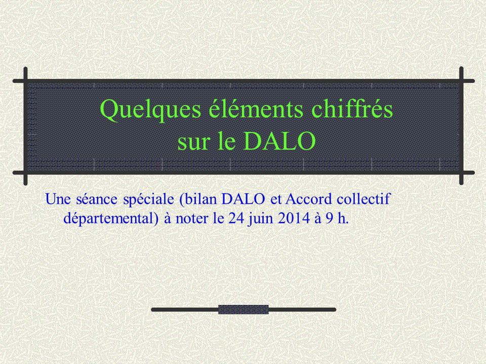 Quelques éléments chiffrés sur le DALO Une séance spéciale (bilan DALO et Accord collectif départemental) à noter le 24 juin 2014 à 9 h.