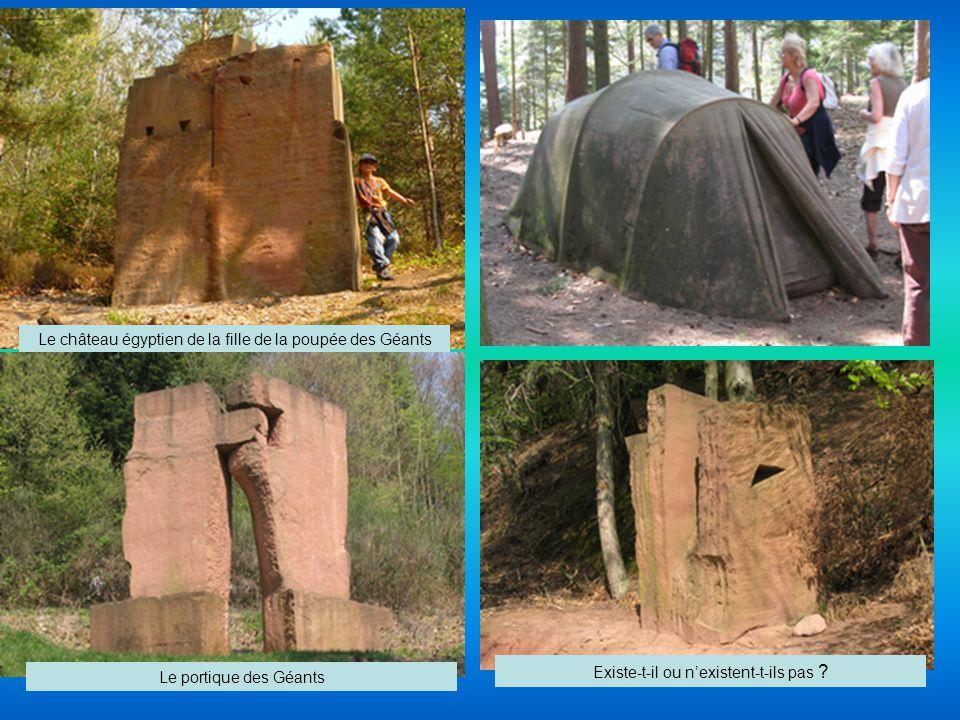 L association Les Géants du Nideck a organisé, au printemps 2003, durant trois semaines, un symposium de sculptures réunissant huit artistes internationaux, pour réaliser des oeuvres monumentales en grès des Vosges, sur le thème des géants.