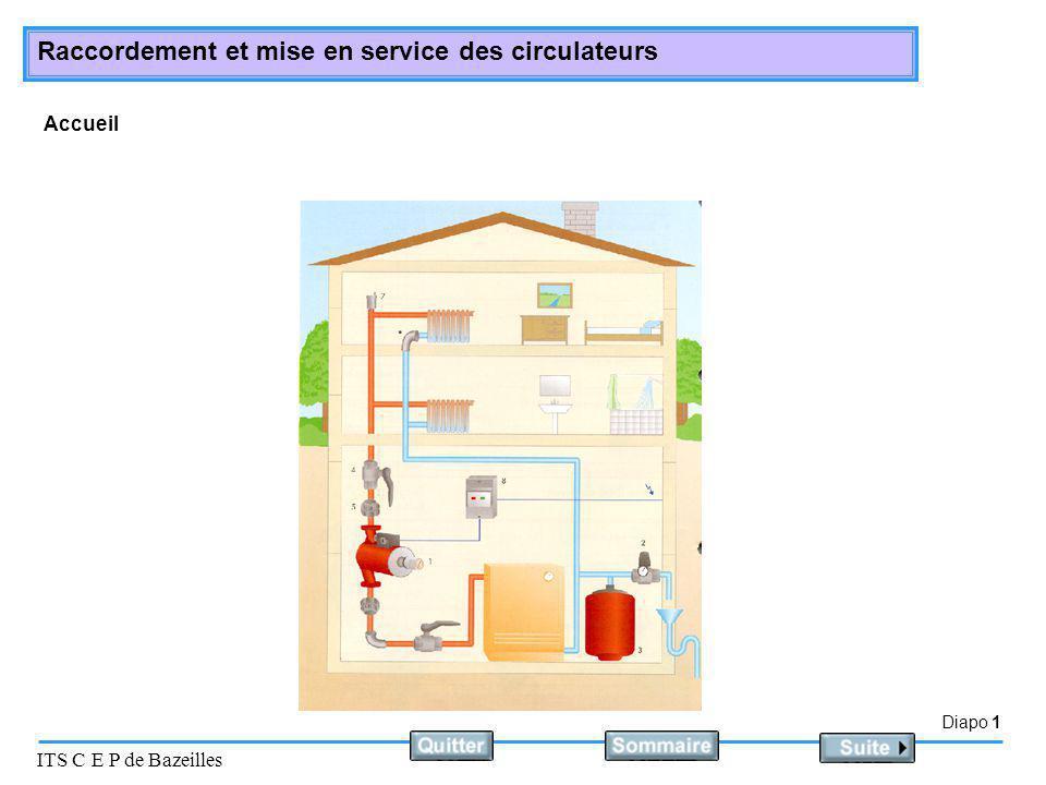 Diapo 1 ITS C E P de Bazeilles Raccordement et mise en service des circulateurs Accueil