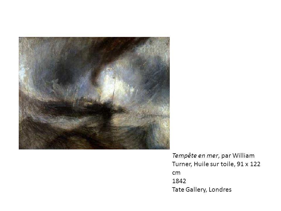Tempête en mer, par William Turner, Huile sur toile, 91 x 122 cm 1842 Tate Gallery, Londres