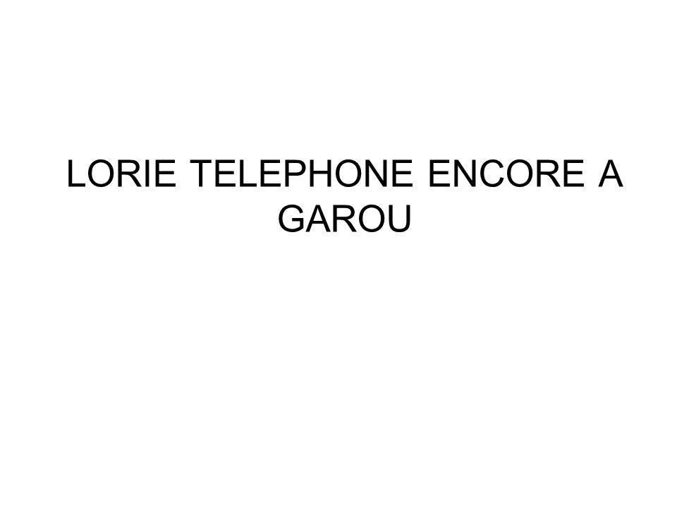 LORIE TELEPHONE ENCORE A GAROU