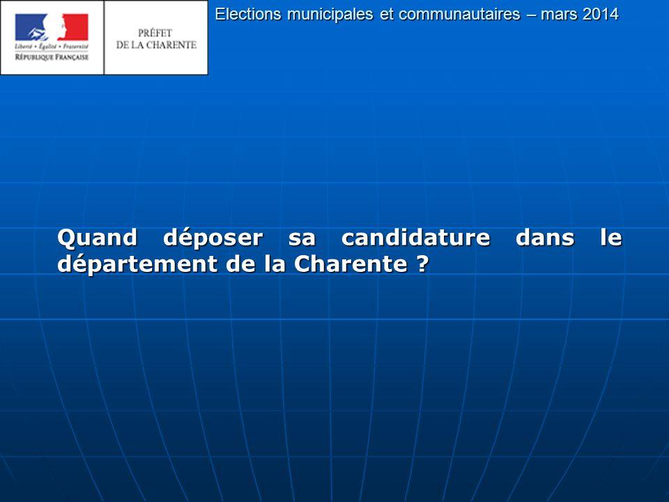 Quand déposer sa candidature dans le département de la Charente