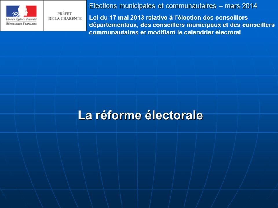 Elections municipales et communautaires – mars 2014 Fin du diaporama