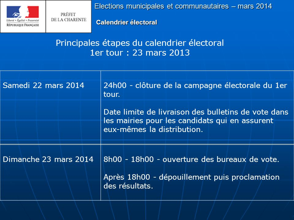Elections municipales et communautaires – mars 2014 Sous quelle forme doit se présenter la candidature ?