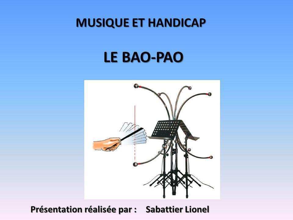 MUSIQUE ET HANDICAP LE BAO-PAO Présentation réalisée par : Sabattier Lionel