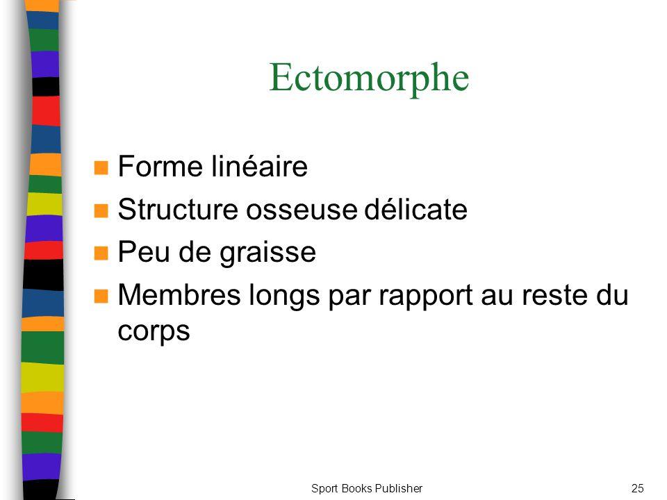 Sport Books Publisher25 Ectomorphe Forme linéaire Structure osseuse délicate Peu de graisse Membres longs par rapport au reste du corps