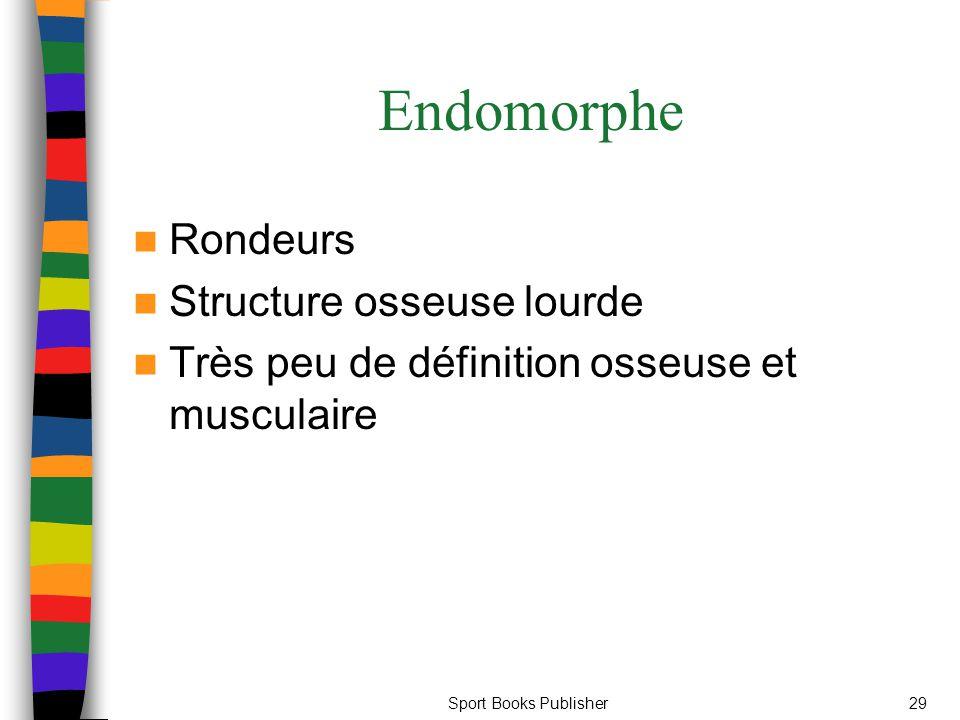 Sport Books Publisher29 Endomorphe Rondeurs Structure osseuse lourde Très peu de définition osseuse et musculaire