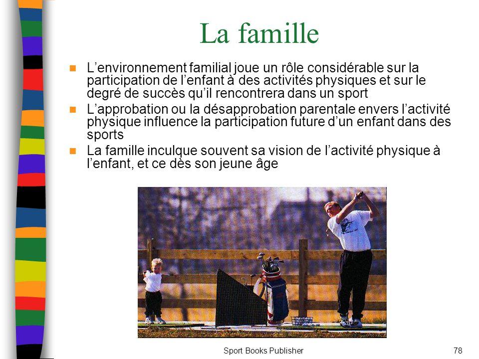 Sport Books Publisher78 La famille L'environnement familial joue un rôle considérable sur la participation de l'enfant à des activités physiques et su