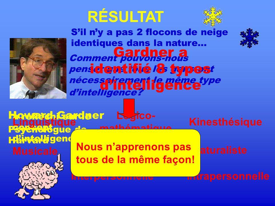 Production UQAM PCPE Cours FPE 7650, groupe 60 Enseignante: Monique Dugal Formateurs: Philippe Lampron Jonathan Redmond Date: 22 octobre 2005 Sources: www.clevislauzon.qc.ca/publications/intelligences