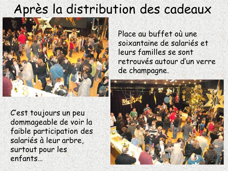 Après la distribution des cadeaux Place au buffet où une soixantaine de salariés et leurs familles se sont retrouvés autour d'un verre de champagne. C