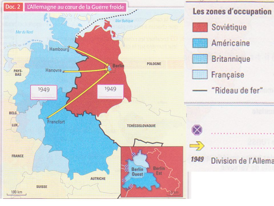 L ' Allemagne, et surtout Berlin, se retrouve au c œ ur d ' un premier affrontement entre les deux pays, en 1948.