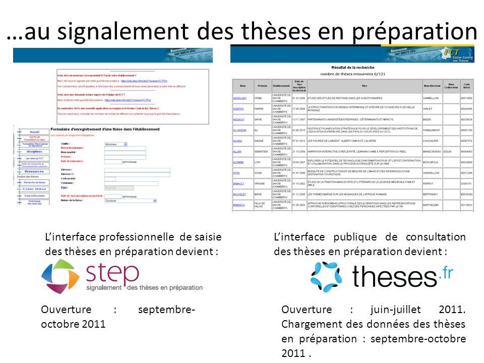 STEP et le FCT : continuité et différences Les données du FCT seront versées dans STEP à l'exception des sujets en cours depuis plus de 10 ans.