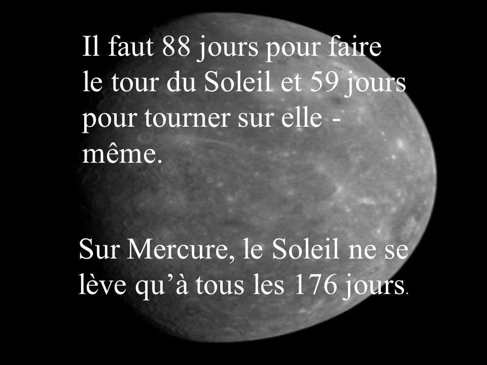 Mercure est l'une des deux planètes les plus brûlantes du système solaire. Il peut faire de –185 o c à 425°c