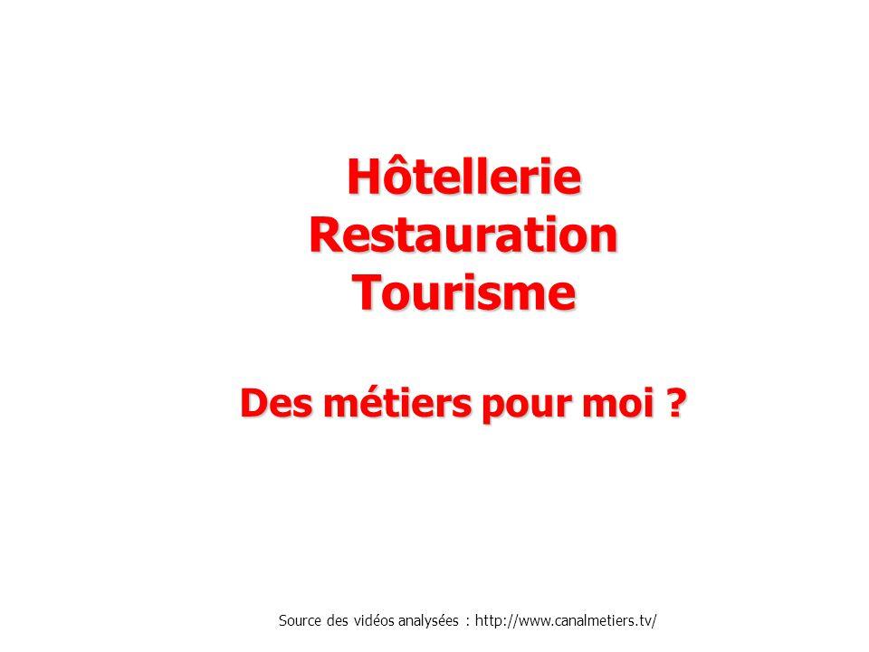 Hôtellerie Restauration Tourisme Des métiers pour moi .