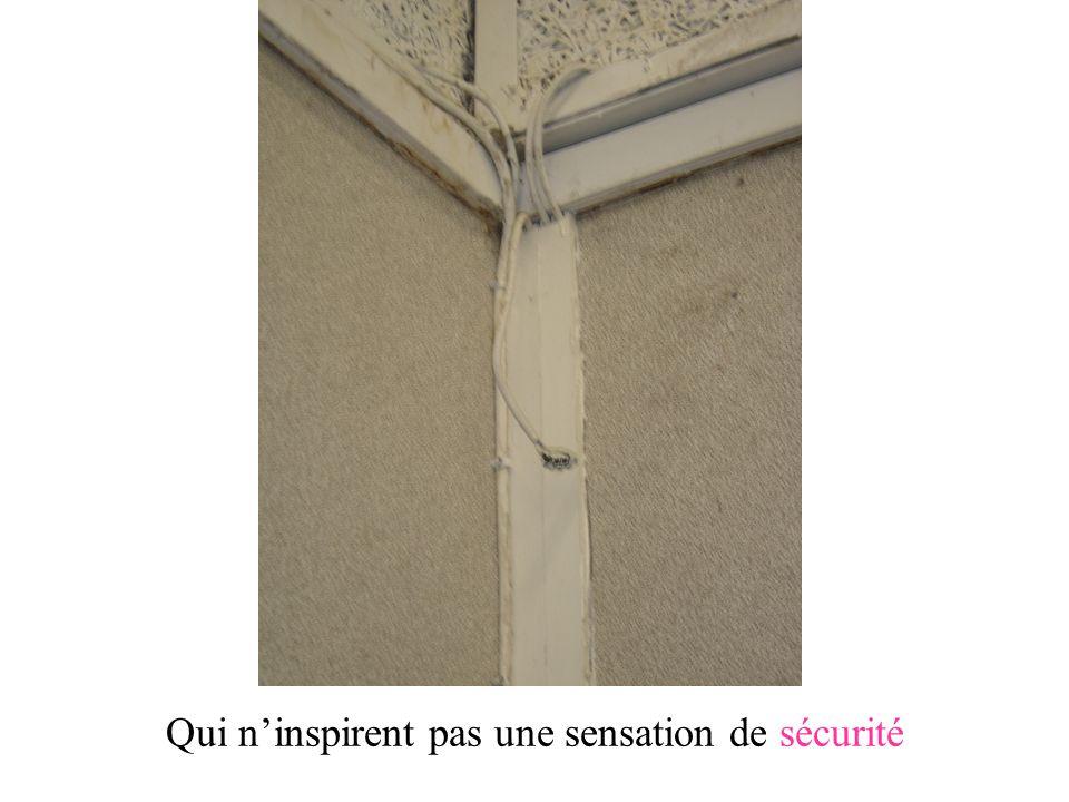 Qui n'inspirent pas une sensation de sécurité