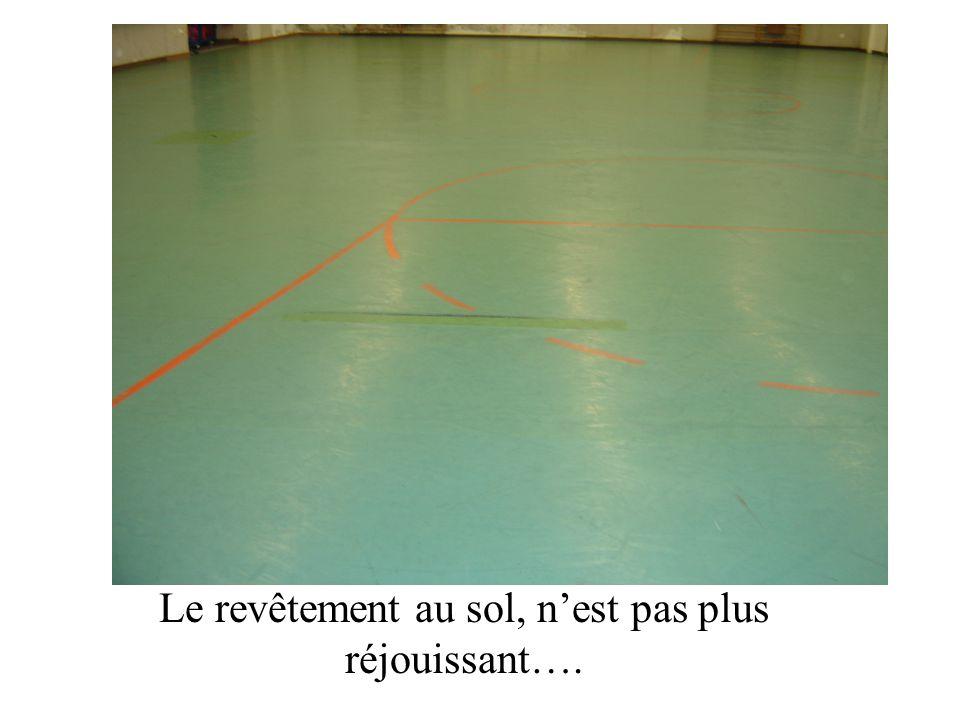 Le revêtement au sol, n'est pas plus réjouissant….