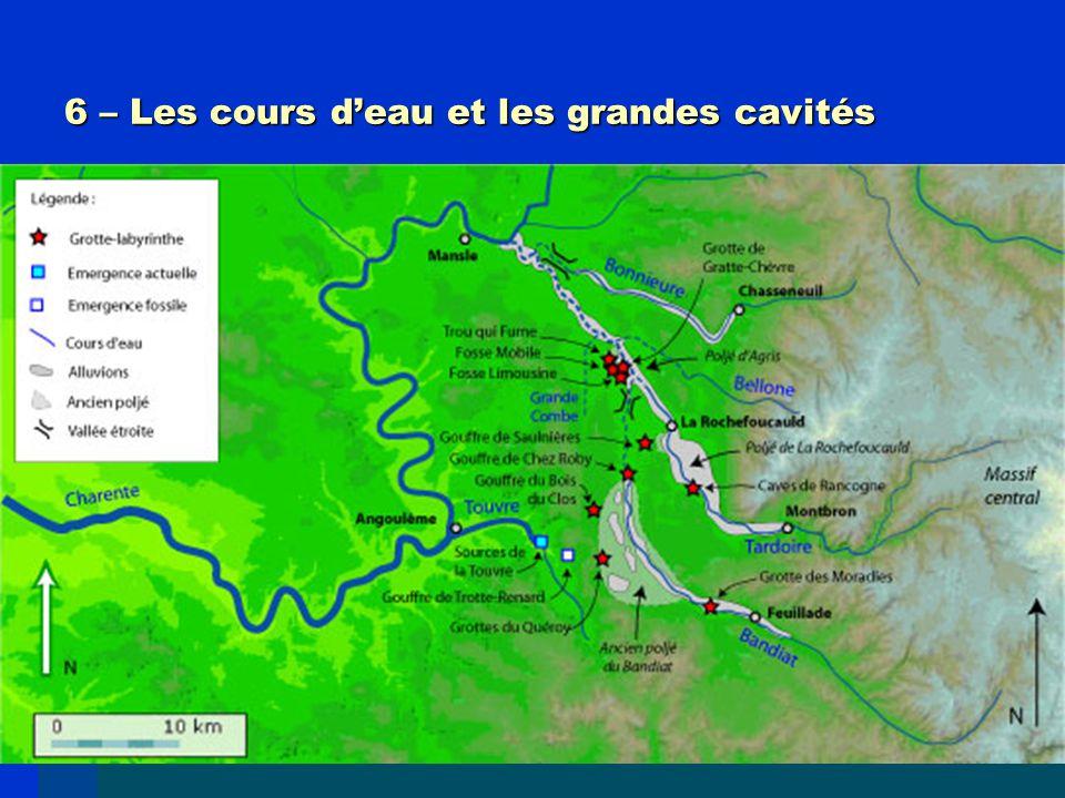 6 – Les cours d'eau et les grandes cavités