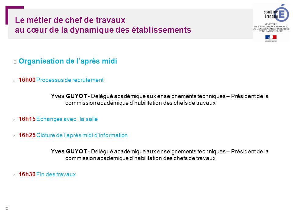 6 Chef de travaux Bulletin officiel 2011 n° 46 du 15 décembre 2011 circulaire n° 2011-215 du 1-12-2011 Un professeur pas comme les autres