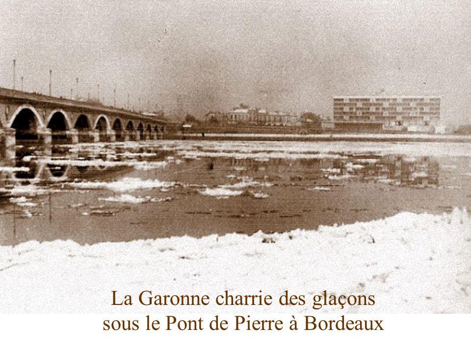 La Gironde sous la glace à Blaye