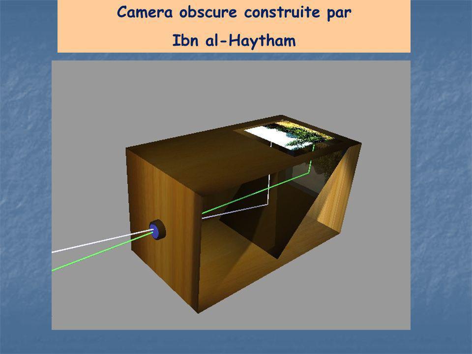 Camera obscure construite par Ibn al-Haytham