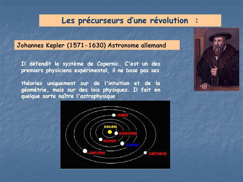 Il défendit le système de Copernic. C'est un des premiers physiciens expérimental, il ne base pas ses théories uniquement sur de l'intuition et de la