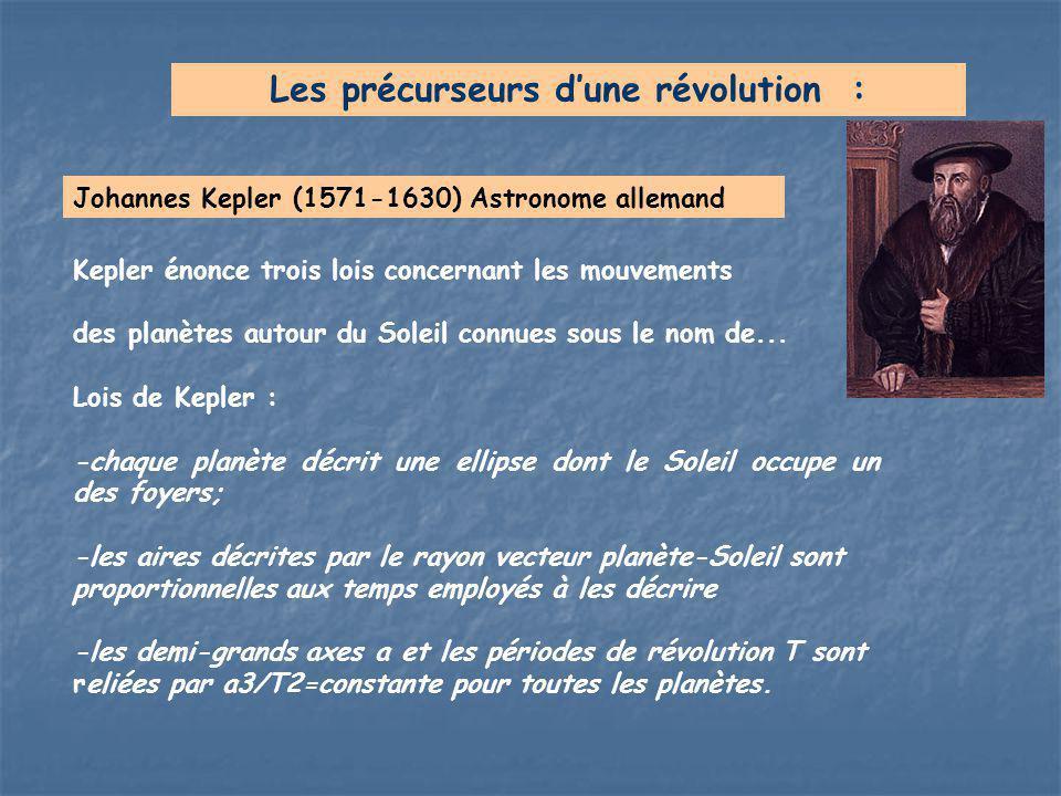 Johannes Kepler (1571-1630) Astronome allemand Les précurseurs d'une révolution : Kepler énonce trois lois concernant les mouvements des planètes auto