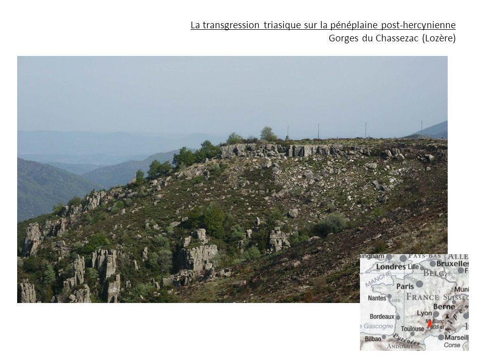 La transgression triasique sur la pénéplaine post-hercynienne Gorges du Chassezac (Lozère)