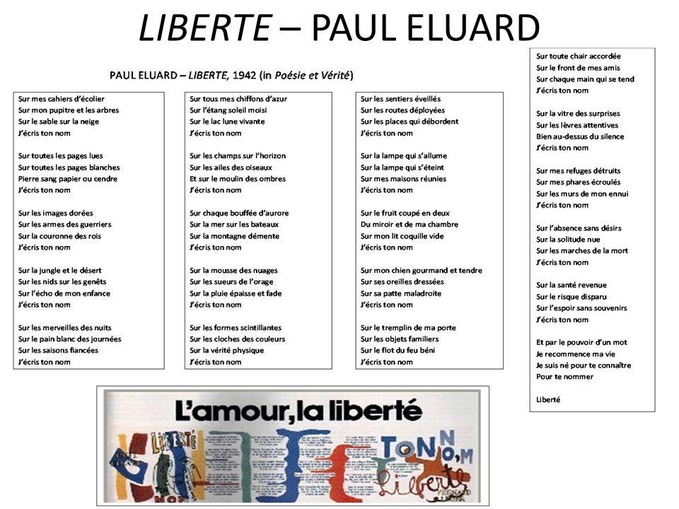 LIBERTE – PAUL ELUARD