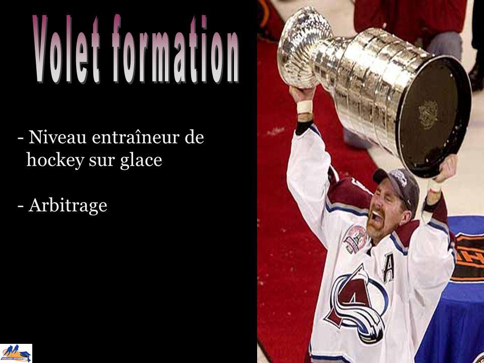 - Niveau entraîneur de hockey sur glace - Arbitrage