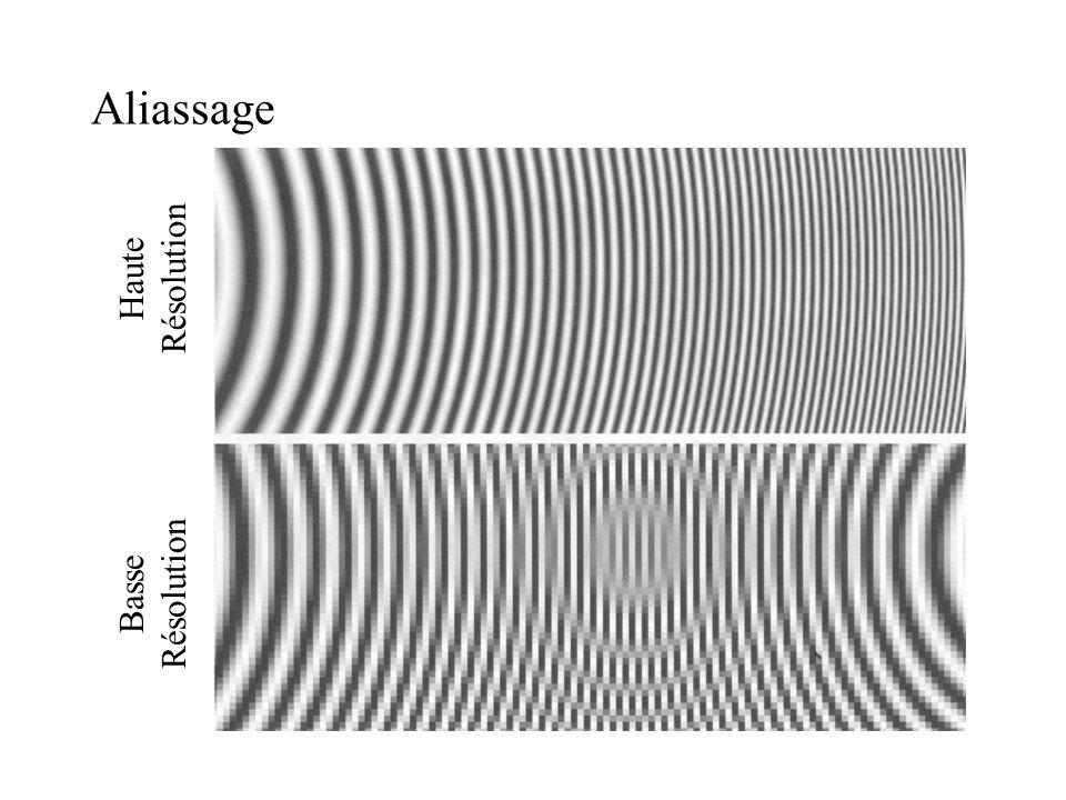 Algorithme de Bresenham / Point milieu void MidpointLine (int x0, int y0, int x1, int y1, int color) { int dx, dy, incrE, incrNE, x, y, d; // d: variable de décision dx = x1 – x0; dy = y1 – y0; d = 2 * dy – dx; // valeur initiale de d incrE = 2 * dy; // incrément en cas E incrNE = 2 * (dy - dx); // incrément en cas NE x = x0; y = y0; WritePixel (x, y, color); // pixel initial while (x < x1) { if (d <= 0) { // choix E d += incrE; x++; } else { // choix NE d += incrNE; x++; y++; } WritePixel (x, y, color); // pixel plus proche }