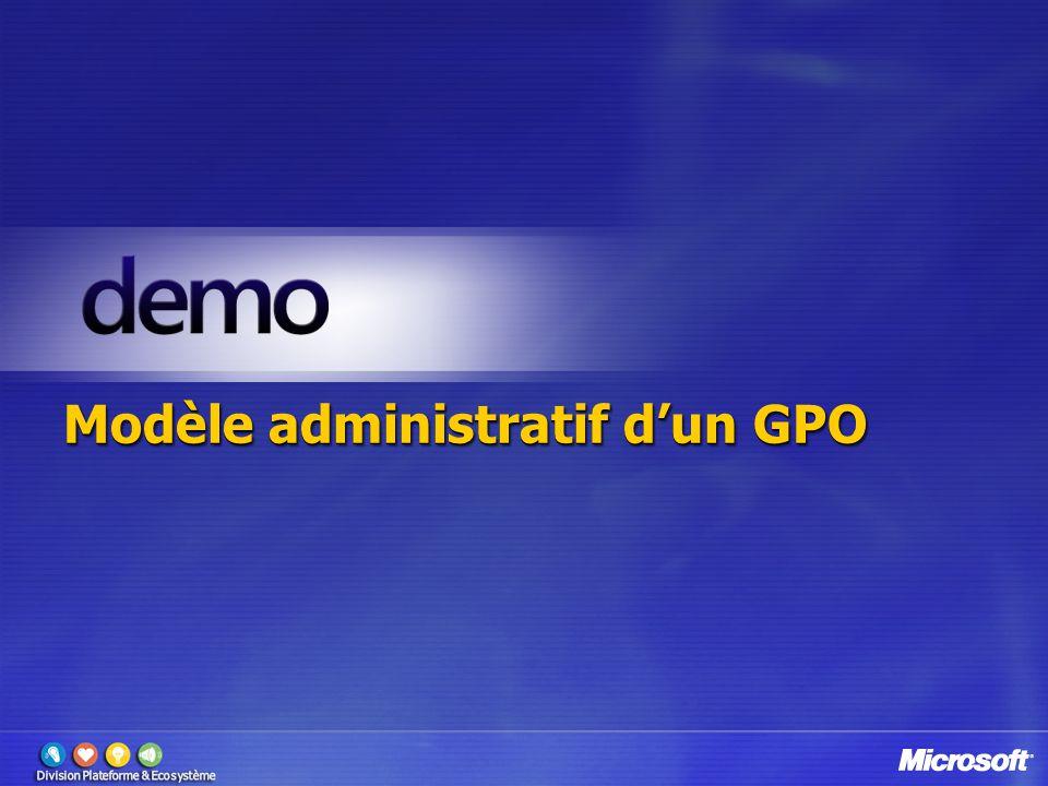 Modèle administratif d'un GPO