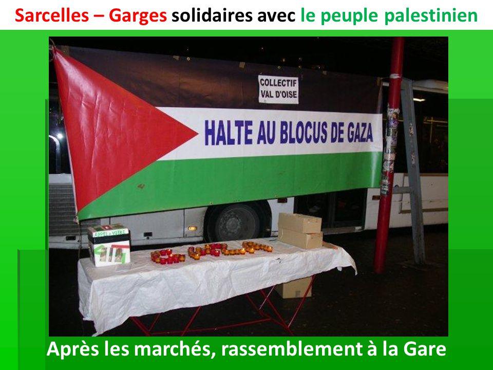 Sarcelles – Garges solidaires avec le peuple palestinien Après les marchés, rassemblement à la Gare