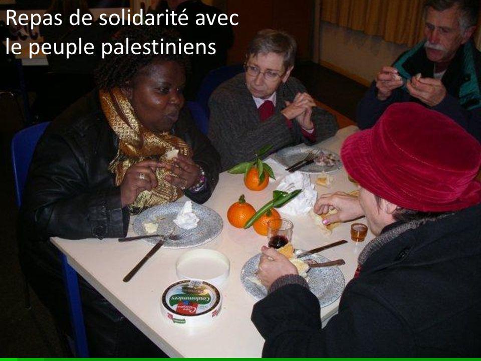 Repas de solidarité avec le peuple palestiniens