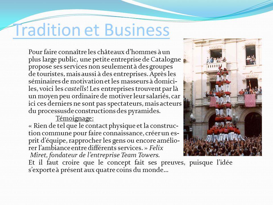 Tradition et Business Pour faire connaître les châteaux d'hommes à un plus large public, une petite entreprise de Catalogne propose ses services non s