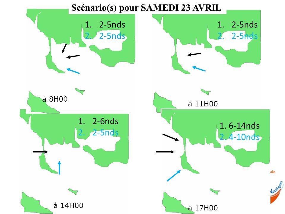 Scénario(s) pour SAMEDI 23 AVRIL à 14H00 à 8H00 à 11H00 à 17H00 1.