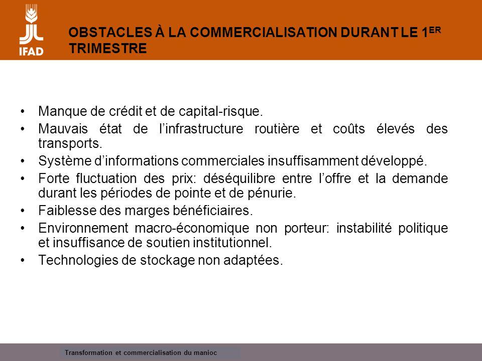 Cassava processing and marketing  Identification et formation de groupes et d'associations de commercialisation viables.