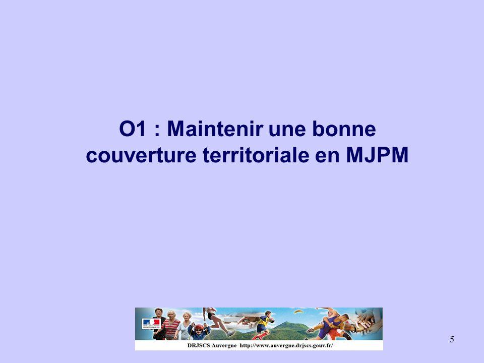 5 O1 : Maintenir une bonne couverture territoriale en MJPM