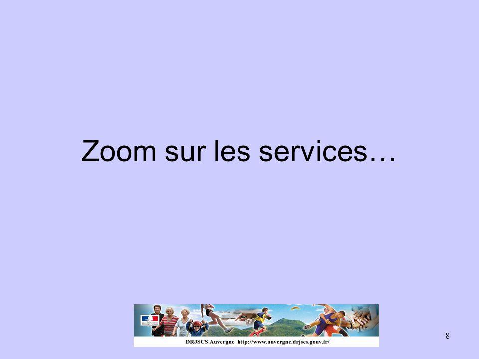 8 Zoom sur les services…