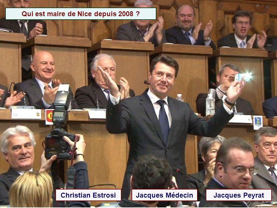 Qui a été maire de Nice de 1966 à 1990 ? Jacques Médecin Jacques Peyrat Jean Médecin