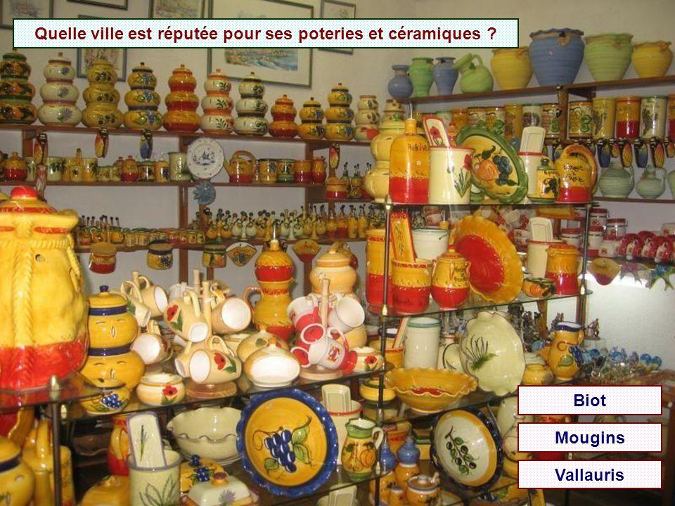 Quel village est célèbre pour ses verreries ? BiotMouginsVallauris