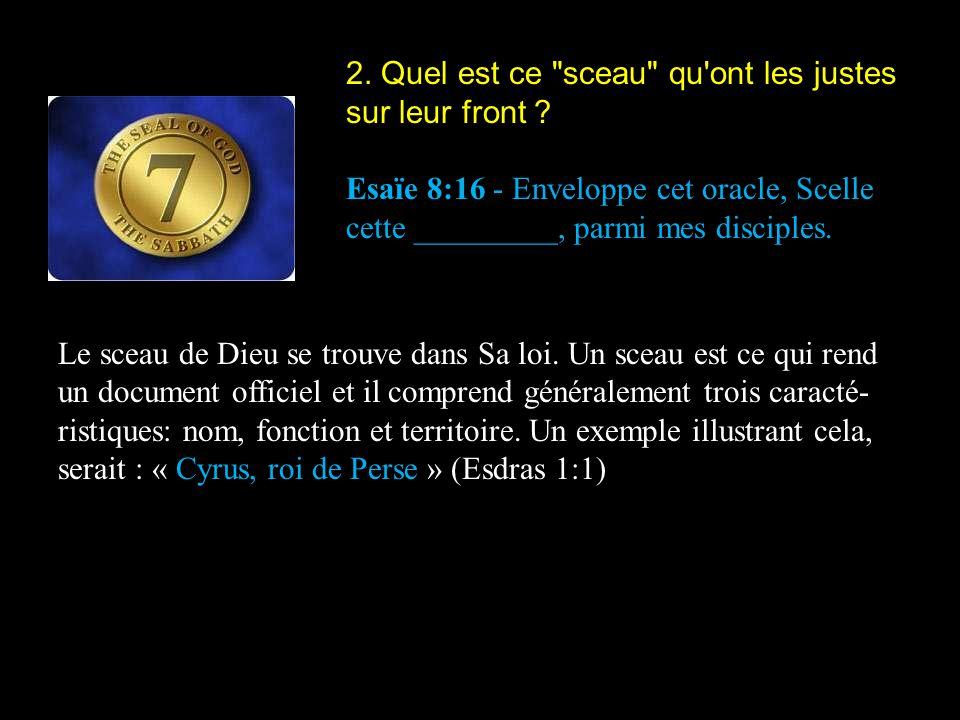 3.Lequel des Dix Commandements contient tous les éléments d un sceau .
