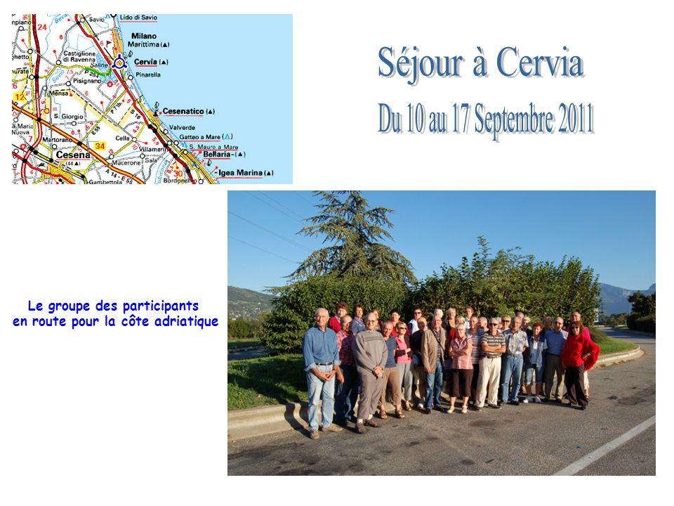 Le groupe des participants en route pour la côte adriatique