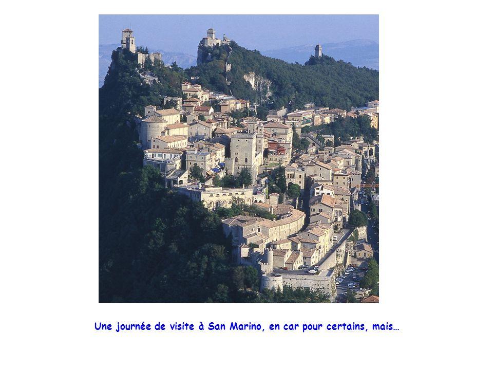 Une journée de visite à San Marino, en car pour certains, mais…