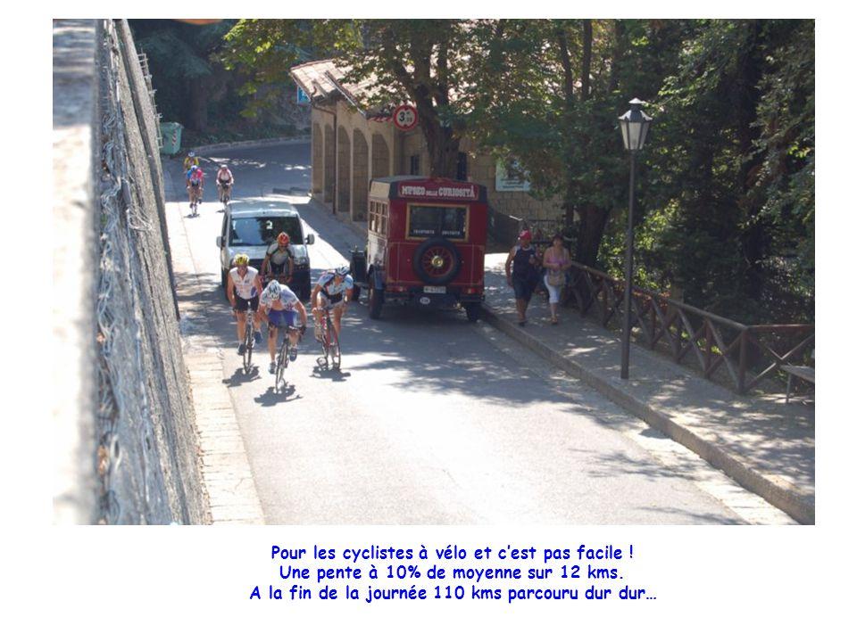 Pour les cyclistes à vélo et c'est pas facile . Une pente à 10% de moyenne sur 12 kms.