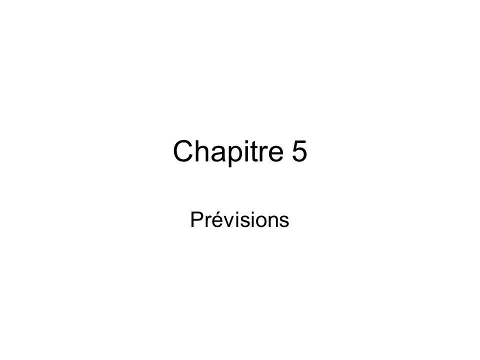 Chapitre 5 Prévisions