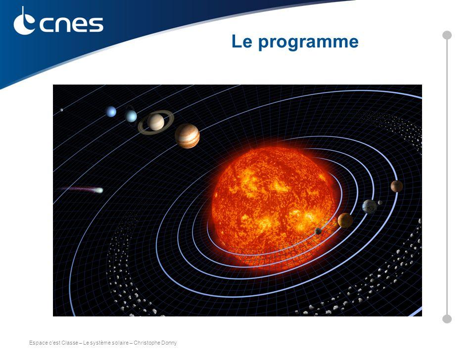 Espace c'est Classe – Le système solaire – Christophe Donny C. DONNY – CNES 2011 Le programme