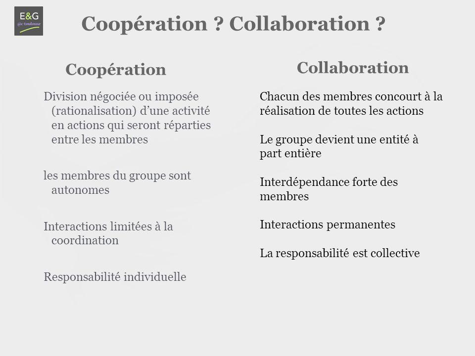 Coopération ? Collaboration ? C. Laval